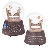 One Child, One Night Manger Resin Stone 80mm Christmas Nativity Musical Water Globe