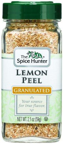 Spice Hunter Lemon Peel, Granulated (6x6/2.1 Oz) by Spice Hunter
