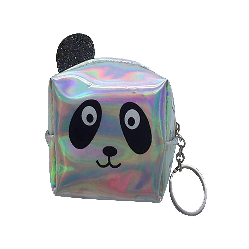 Alvade Panda Coin Purse, Mini Wallet Canvas Wallet Girl Purse Pouch Cosmetics Wallet For Holding Credit Card