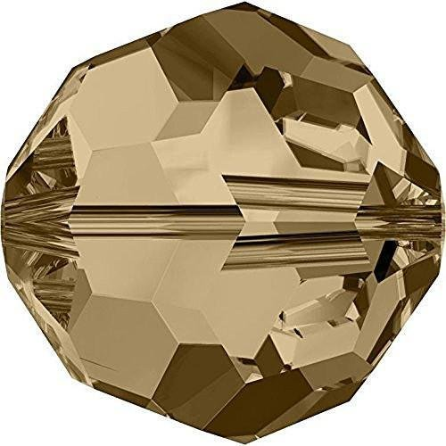 - 5000 Swarovski Crystal Beads Round Crystal Golden Shadow | 4mm - Pack of 25 | Small & Wholesale Packs