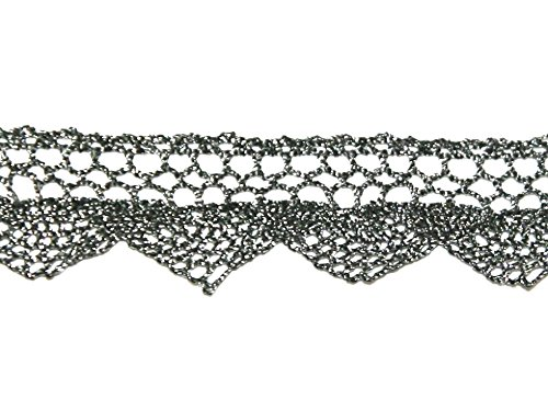 20mm Essential Trimmings Crochet Effect Metallic Lace for sale  Delivered anywhere in USA
