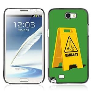 Designer Depo Hard Protection Case for Samsung Galaxy Note 2 N7100 / Banana Slip Sign
