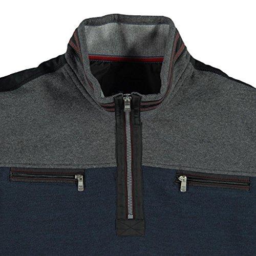 engbers Herren Sweatshirt Stehbund, 24049, Blau