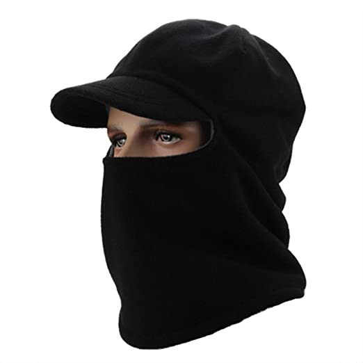 MIFXIN Winter Windproof Cap Fleece Balaclava Face Mask Neck Warmer Ski Hood  Hat Outdoor Sports 367ef3000c2