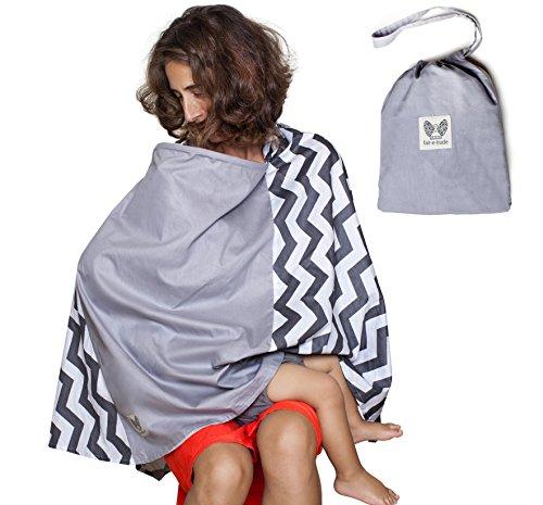 Nursing Cover | Privacy Baby Nursing Cover Cotton Breastfeeding APRON-PONCHO with Rigid Neckline