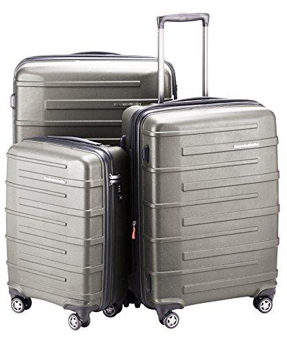 HAUPTSTADTKOFFER Ostkreuz Luggages Set Matt Suitcase Set Hardside Spinner Trolley Expandable (20', 24'& 28') TSA Graphite by Hauptstadtkoffer