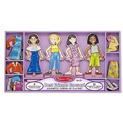 Melissa Doug Best Friends Forever Deluxe Magnetic Dress - Up from Melissa and Doug