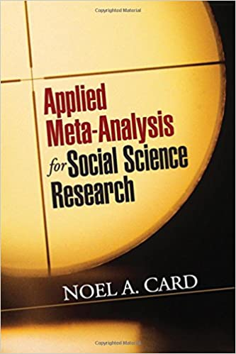 Book cover: applied meta-analysis for social science research