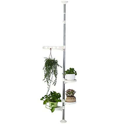 Baoyouni Indoor Plant Tension Pole Flower Display Stands Spring Loaded on house plant poles, house plant trays, house plant containers, house plant watering devices, house plant holders, house plant stakes, house plant shelving, house plant supports, house plant stands, house plant hangers,