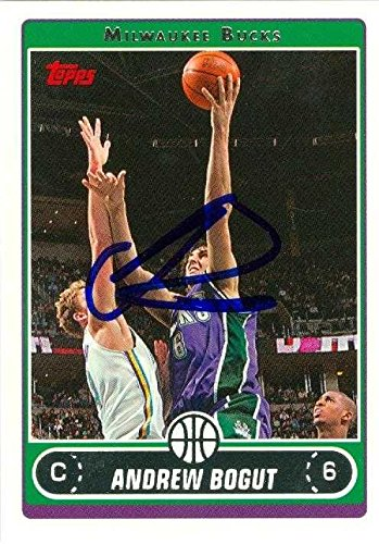 Andrew Bogut autographed Basketball Card (Milwaukee Bucks) 2006 Topps #25 - Autographed Basketball Cards