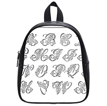 a230fff306d6 Image Unavailable. Image not available for. Color  Alphabet Letter Monogram Backpack  Kid s School Bag Small
