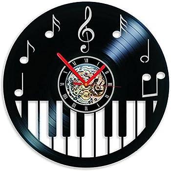 choma Vinyl Clock Piano keybord Wall Clock Music Clock Music Decor Piano Decor Piano Art Clock Piano Gifts Wall Art Home Decor Gift Handmade