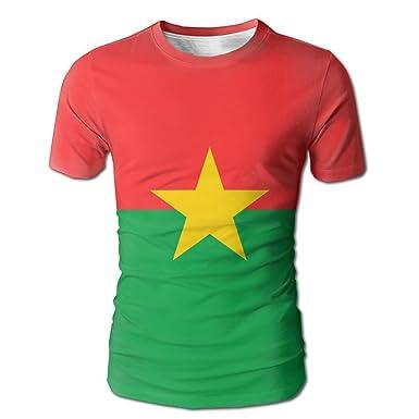 bb52fe8a2e1c Pengyou Summer Men s Flag of Burkina Faso Graphic Tee