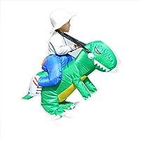FTVOGUE Disfraz de Dinosaurio de Paseo Inflable para niños Divertidos con Accesorios de Cosplay de Sombrero