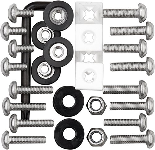 (Cruiser Accessories 81500 Locking Fasteners License Plate Frame Hardware, Ultimate Kit-Stainless Star Pin)