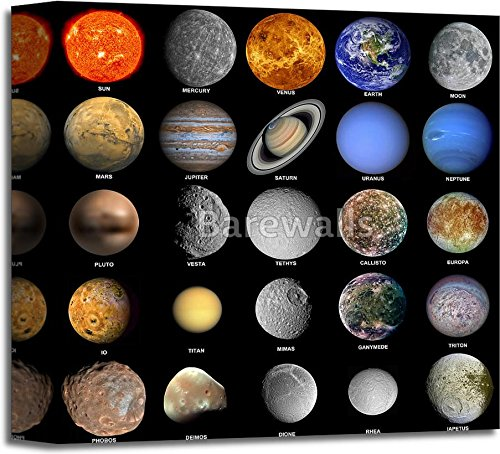 The Solar System Gallery Wrapped Canvas Art (12 in. x 12 in.) by barewalls