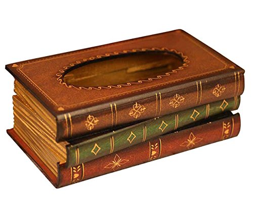 Tosnail Elegant Wooden Antique Book Tissue Holder Dispenser/Novelty Napkin ()