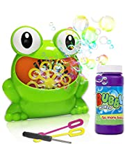 ToyerBee Bubble Machine- Automatic Bubble Maker with Bubble Solution& 2 bubble wands, 800+ Bubbles per Minute,Bubble Blower Toy for 4.5.6.Years Kids &Boys & Girls & Toddlers , Outdoors& Party &Wedding