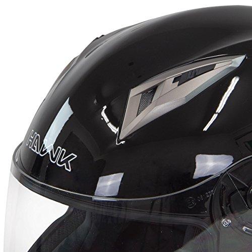 Hawk H-510 Glossy Black Bluetooth Full Face Helmet - Small by Hawk Helmets (Image #2)