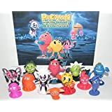 Pac-Man and the Ghostly Adventures Deluxe Party Favors Goody Bag Fillers Set of 12 Figures with Pacman, the 4 Ghosts, Lord Betrayus, President Pheros and More!