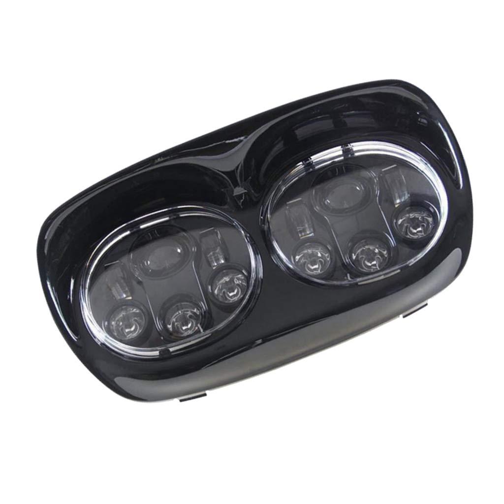F Fityle オートバイ デュアル LEDヘッドライト ハーレーロードグライドモデル2004-2013に適応 高品質 B07MY16T38