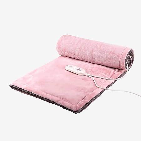 HONG Manta Eléctrico Solo Doble Termostato De La Calefacción,Pink ...
