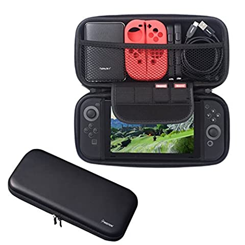 Insten Nintendo Switch Travel Carrying Case [Full Protection] with 4 Card Slots Protective EVA Hard Shell Case For Nintendo Switch Console [2017 New Release], Black