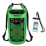 Piscifun Waterproof Dry Bag with Waterproof Phone Case Light Green 10L