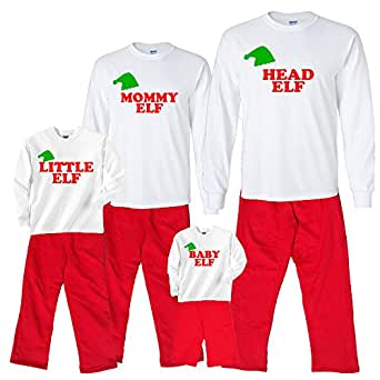 Brother Elf White Pajama Set - Adult Small, L/S, Red Pants (751)