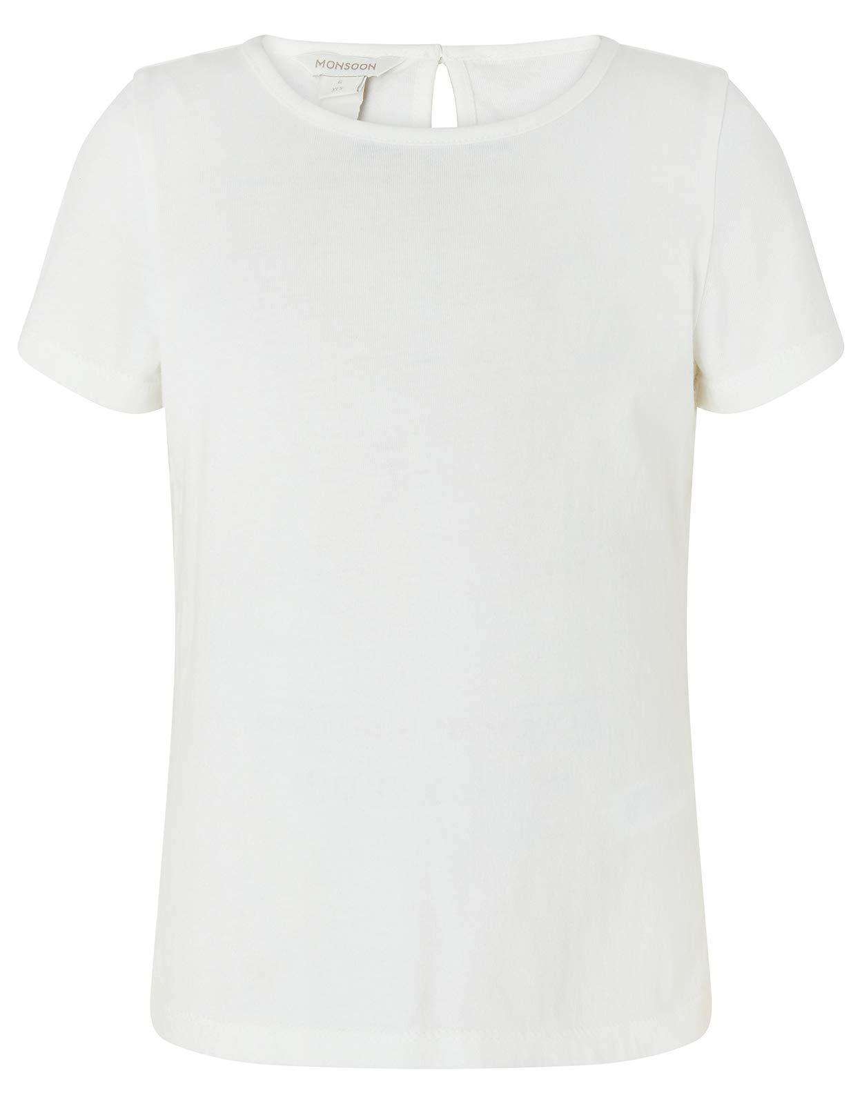 Monsoon Linen Blend Peta Romper & T-Shirt Daywear Sets - Girls - 9 Years Navy by Monsoon (Image #3)