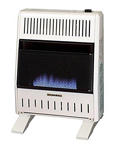 Procom Blue Flame - ProCom MNSD200TBA-BB Dual Fuel Blue Flame Ventless Wall Heater, 20,000 BTU
