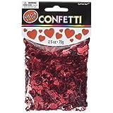 Amscan 369131.07 Metallic Hearts Confetti, Red, 2.5 oz.