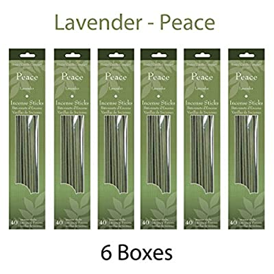 Hosley's Candle Company 240 Incense Sticks / Approx. 240 gm. LAVENDER (Peace) Highly Fragranced Incense.Infused with essential oils. Ideal for parties, special events, spa and aromatherapy.