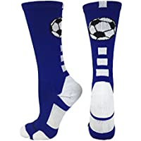 MadSportsStuff Soccer Ball Athletic Crew Socks (multiple...
