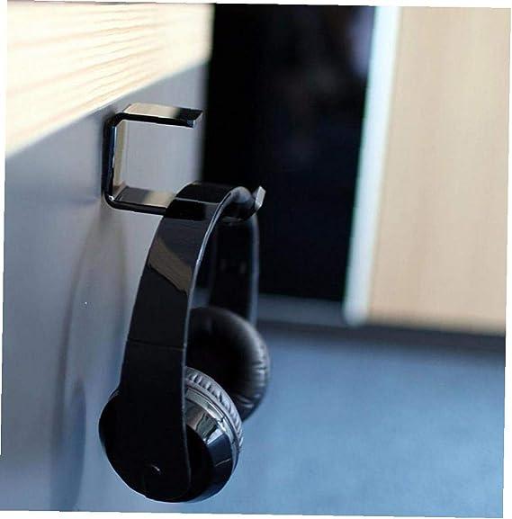 Diercosy Tools Stick Auf Kopfhörer Haken Der Wand Befestigten Headset Rack Kopfhörerhalter L Form Adhesive Kopfhörer Halter Schwarz Küche Haushalt
