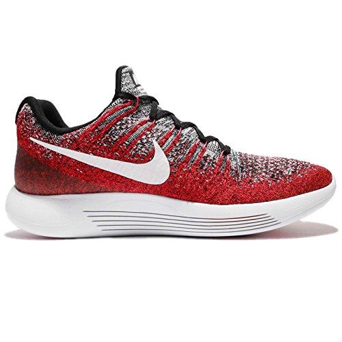 Nike Lunarepic Low Flyknit 2 863779-005 Nero / Bianco / Iper Punk Scarpe Da Corsa Da Uomo (3 Giovani M)