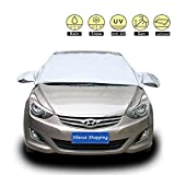 Silence Shopping Windshield Snow Cover, Ice Removal Wiper Visor Protector All Weather Winter Summer Auto Sun Shade for Cars Trucks Vans and SUVs Stop Scraping with a Brush or Shovel