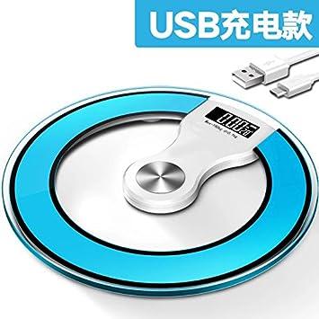 ZhangTianShi Báscula de baño Escalas electrónicas del cuerpo humano balanzas electrónicas carga de la electrónica: Amazon.es: Hogar