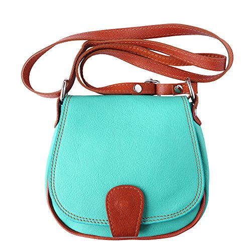 Leather A Borsa b024 Turchese Florence cuoio Market Tracolla 4CvwqnF