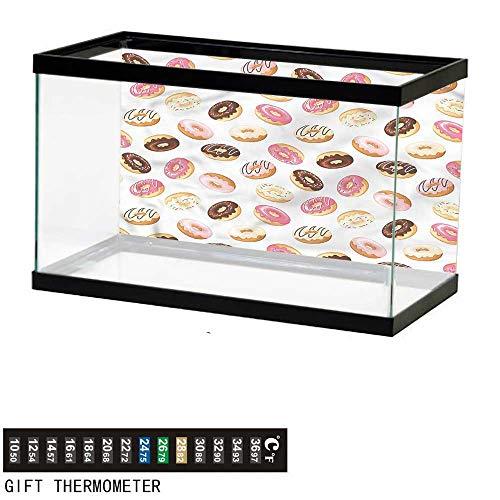 bybyhome Fish Tank Backdrop Food,American Dessert Donuts,Aquarium Background,72