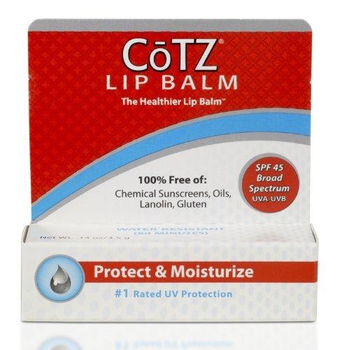 Cotz Lip Balm Spf 45, .14 Ounce (3 Pack) by FALLENE LTD by CoTZ