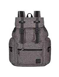 Veegul Women Men Oxford Travel Bag Backpack Ultralight School Daypacks 19L (Grey Brown-Cool)