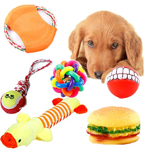 Puppy Chew Toys Set 6Pack, Dog Toys Dog Chew Toys Ball Rope Chew Pet Teething Toy For Medium&Large Dogs (6pack)