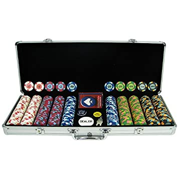 Paulson 500 Paulson Tophat and Cane Clay Poker Chips with Aluminum ...