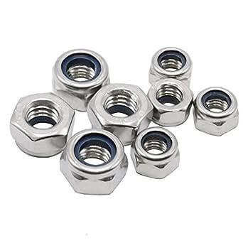 120pcs Stainless Steel Lock Nuts M2 M2.5 M3 M4 M5 M6 A2Nylon Insert Locknut Kit