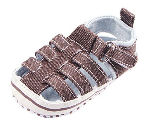La Vogue Zapatos para Bebe Sandalias Infantil Primeros Pasos Marrón Talla 12cm