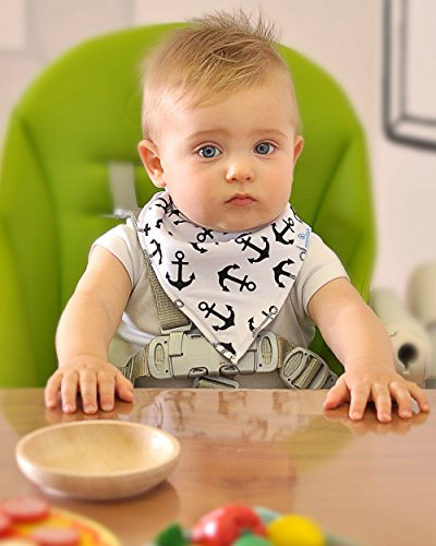 Baby Boy Bandana Drool Bibs - Set of 6 Cute Designs Extra-Soft Organic Cotton Bib for Delicate Skin, Perfect for Teething, Drooling, Breast Feeding, Burp & Spit-Up Messes, Outfit Accessory by maxamStars (Image #5)