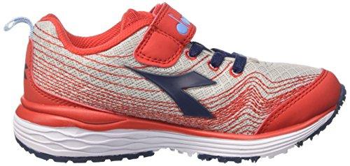 Diadora Flamingo Jr, Zapatillas de Running Para Niños Gris (Grigio Chiaro Rosso)