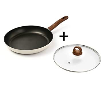 Sartén Antiadherente, 28 cm, Antiadherente, con Mango de baquelita, Cocina de inducción, Estufa de Gas: Amazon.es: Hogar