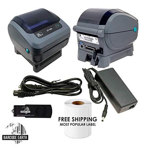 Zebra ZP 450 ZP450-0201-0000A Direct Thermal Barcode Label Printer Network USB Peeler 203dpi (Renewed) ()